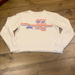 ⭐️NASA Long Sleeve Crop Top